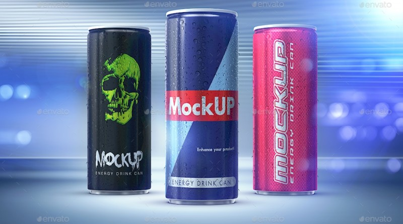 Soda & Beer Can Mockup PSD energy drink can mockup free beer bottle mockups template psd
