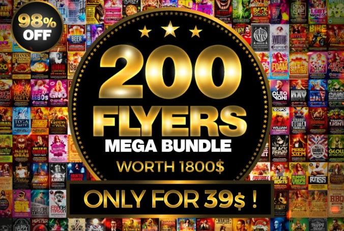 200 Mega Flyers Template Bundle 1
