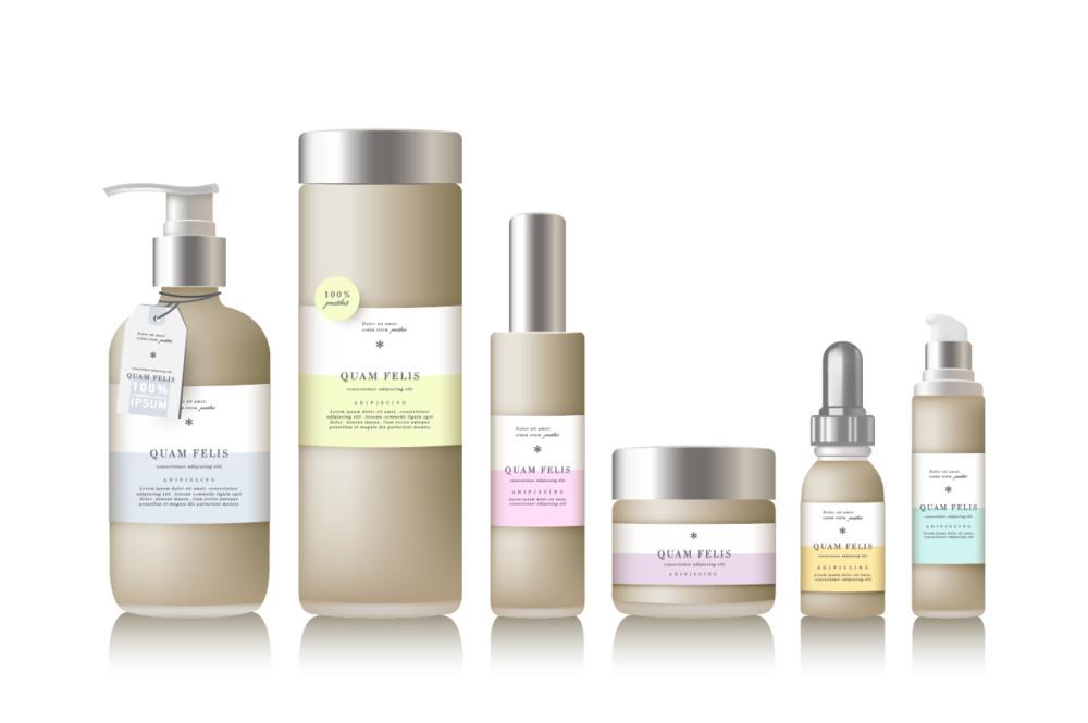 bottlebeaty_creamcolor coametic packageing mockup branding