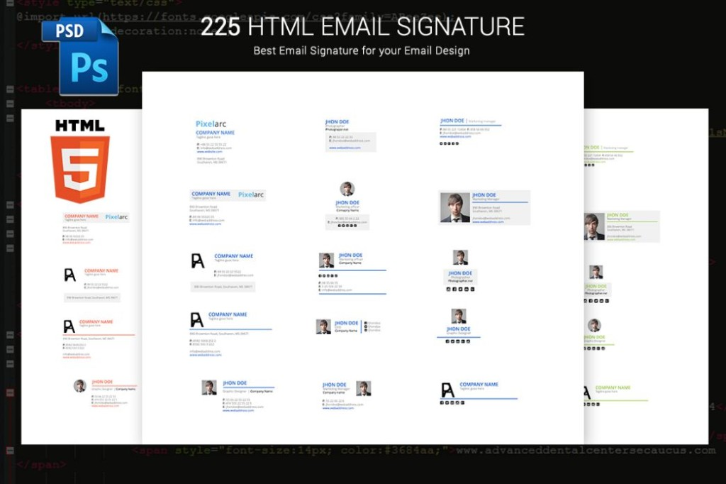 225 HTML eMail Signature Templates