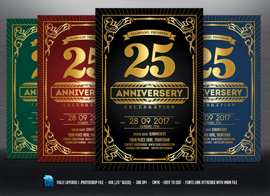 25th-anniversary-invitation-template