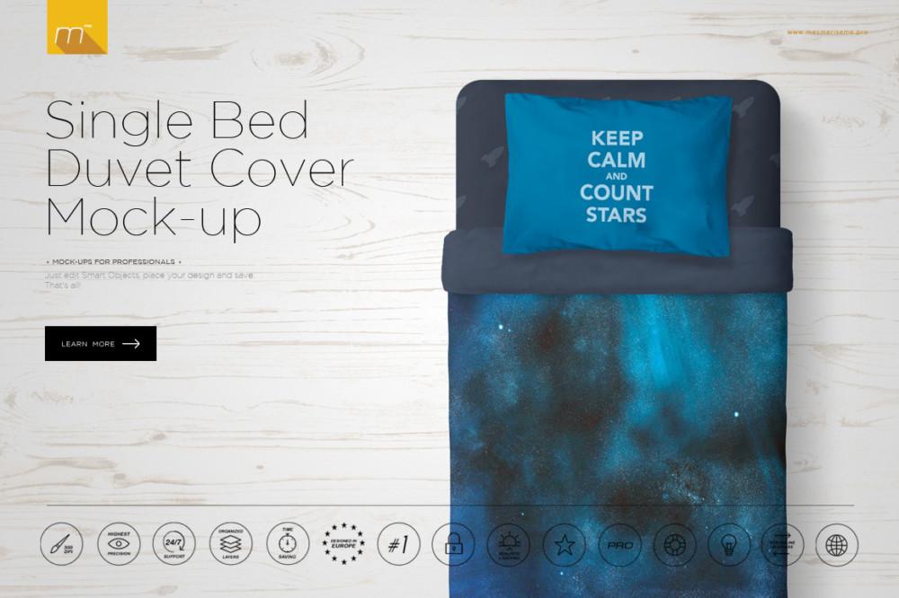 Single-Bed-Pillow-Mockup