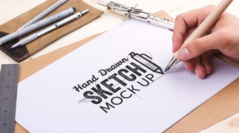 Sketch Mockups PSD sketch hand made mockup pack ui website design mockup