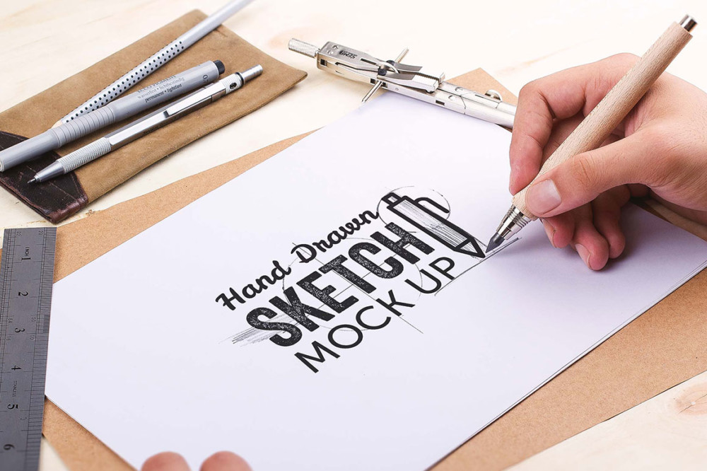 sketch hand made mockup pack ui website design mockup