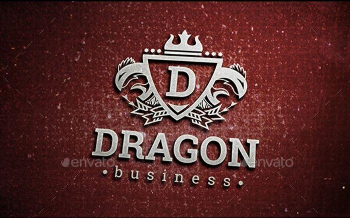 3D Logotype Mockup PSD