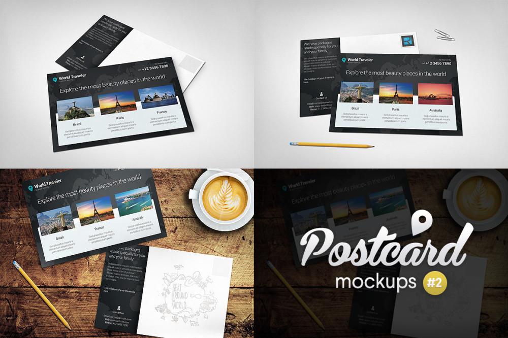 postcard-mockups-pack-envelope cover mockup psd card