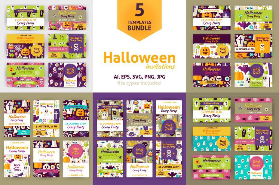 5-halloween-invitation-templates-bundle