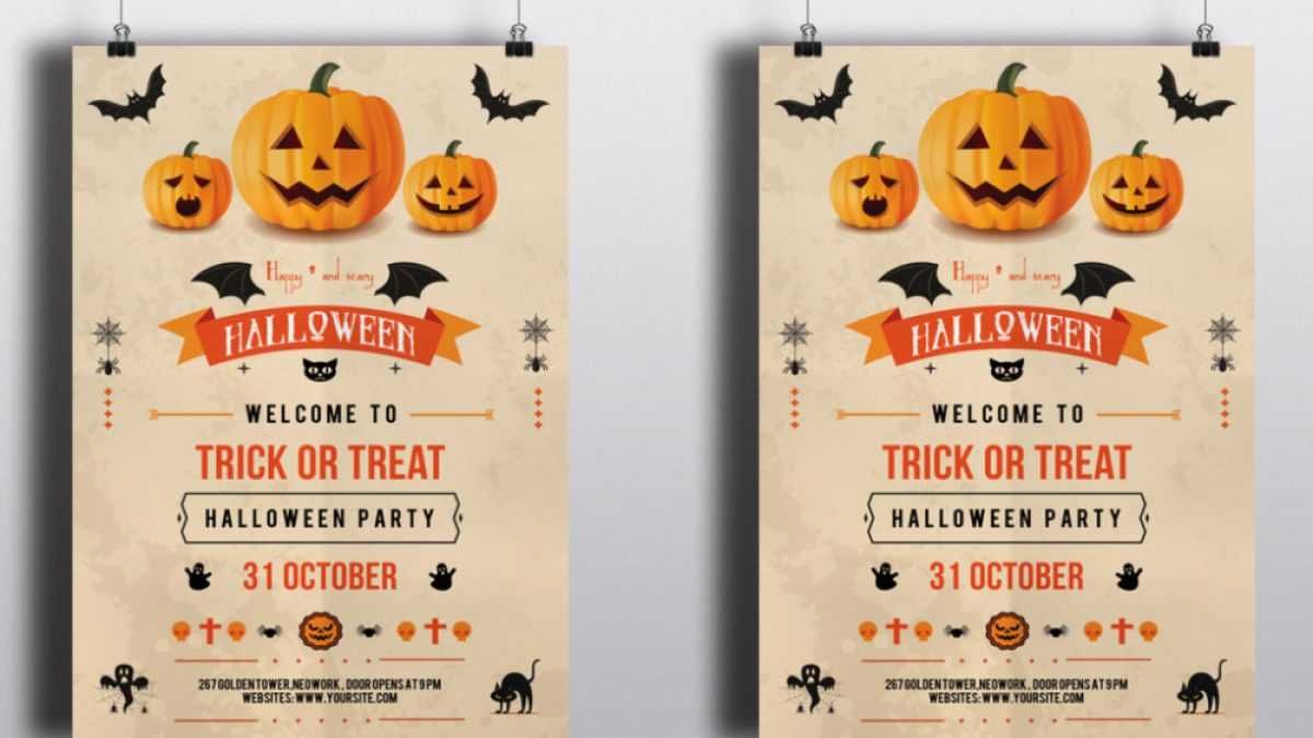 25 Halloween Party Flyer Poster Psd Templates Graphic Cloud