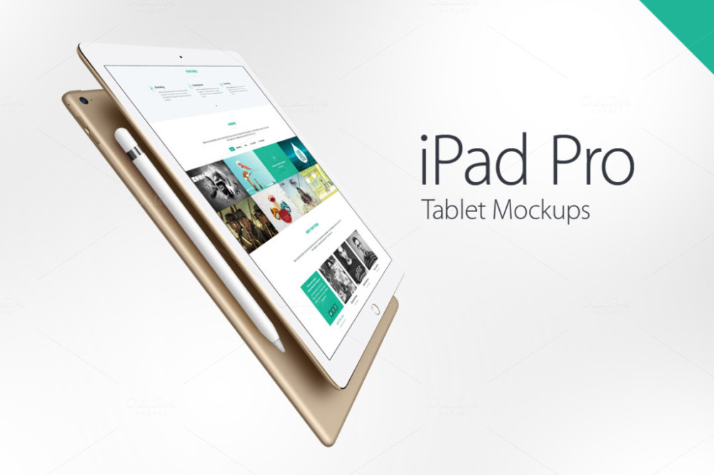 High Quality Flat Apple Device Mockups ipad-pro-mockups