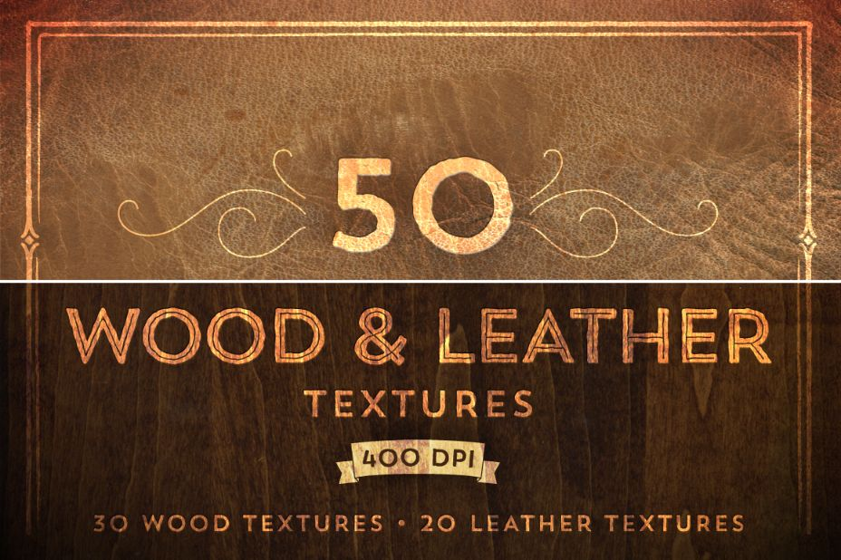 50 Woiod and Leather Textures