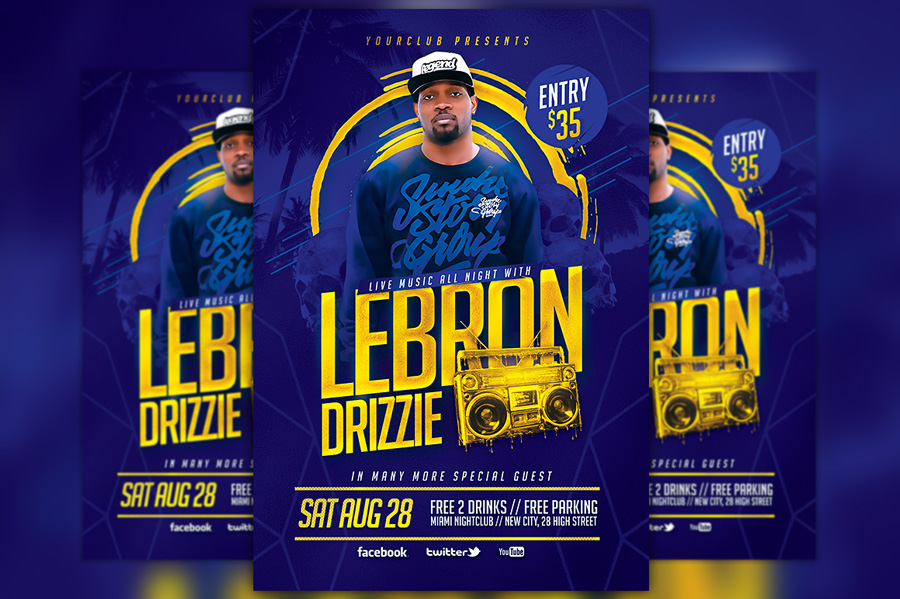 artist-music-event-flyer-template-cm-awesomeflyer-free-psd-flyer-templates-party-flyer-psd