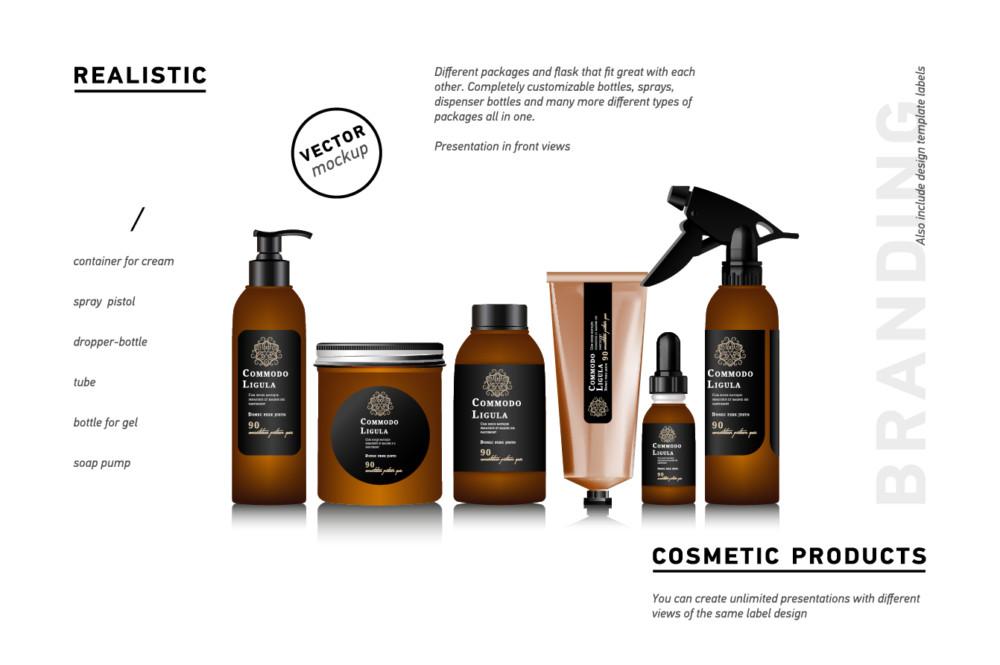 behance_redmockup-glass bottle mockup PSD branding cosmetic mockup