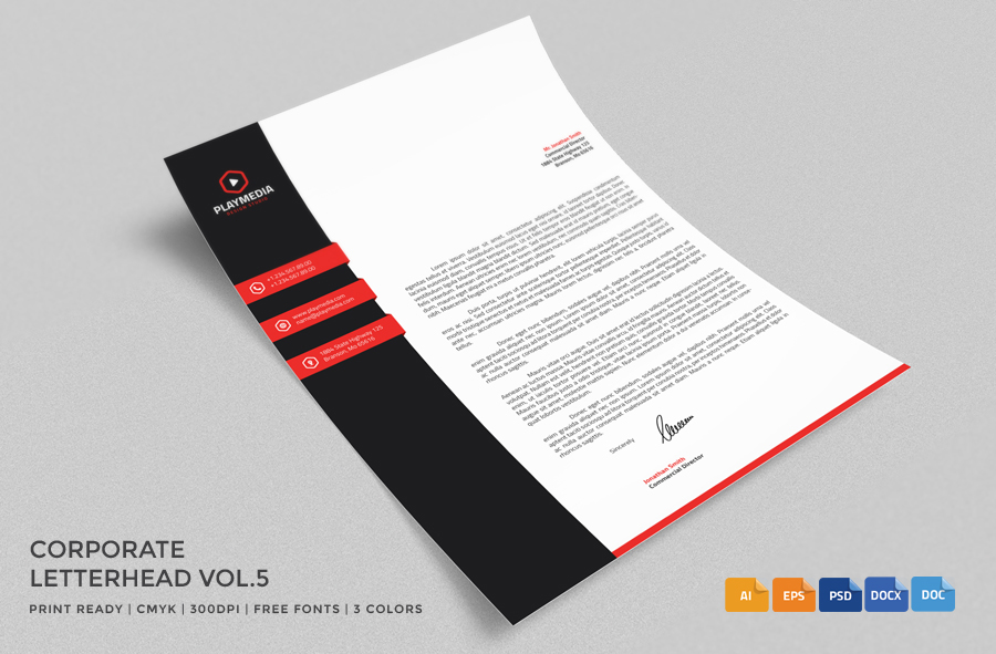 20+ Professional Company Letter Head Templates - Graphic Cloud