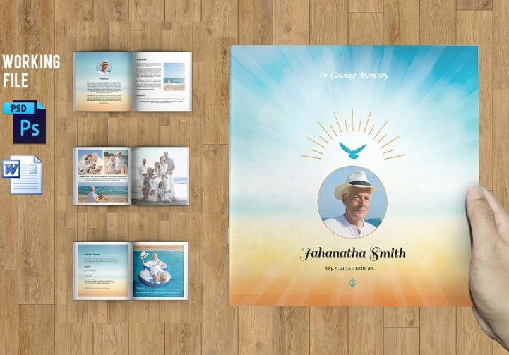 8 Page Funeral Brochure Template
