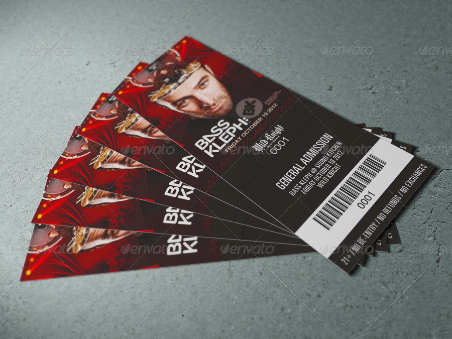 15 amazing ticket mockup psd design graphic cloud for Concert ticket template psd