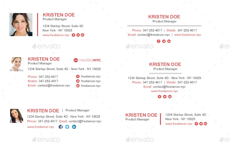800+ Customizable Email Signature Template Pack
