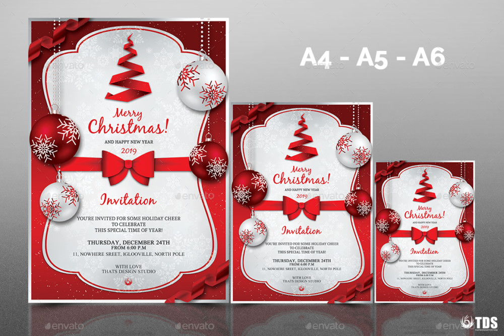 Christmas invitation templates
