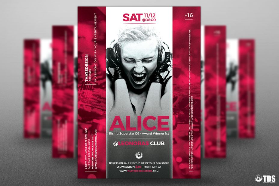 A4 DJ Flyer Template PSD