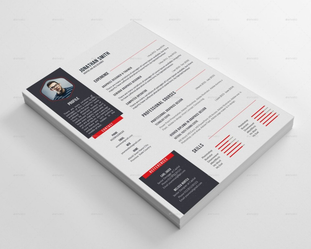 designer resume template word indesign psd template a4 designer resume template psd