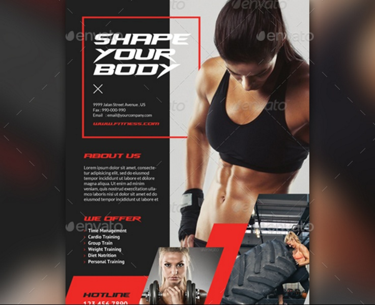 Fitness Flyer Template Psd For Fitness Center Gym And Health