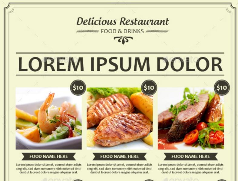 A4 Food Flyer Template PSD