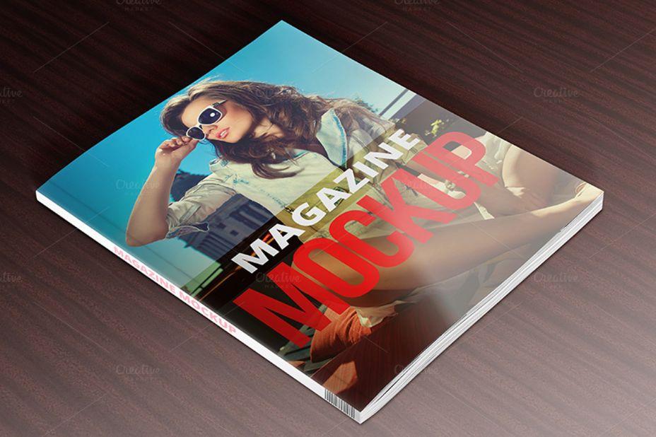 A4 Magazine Cover Mockup PSD
