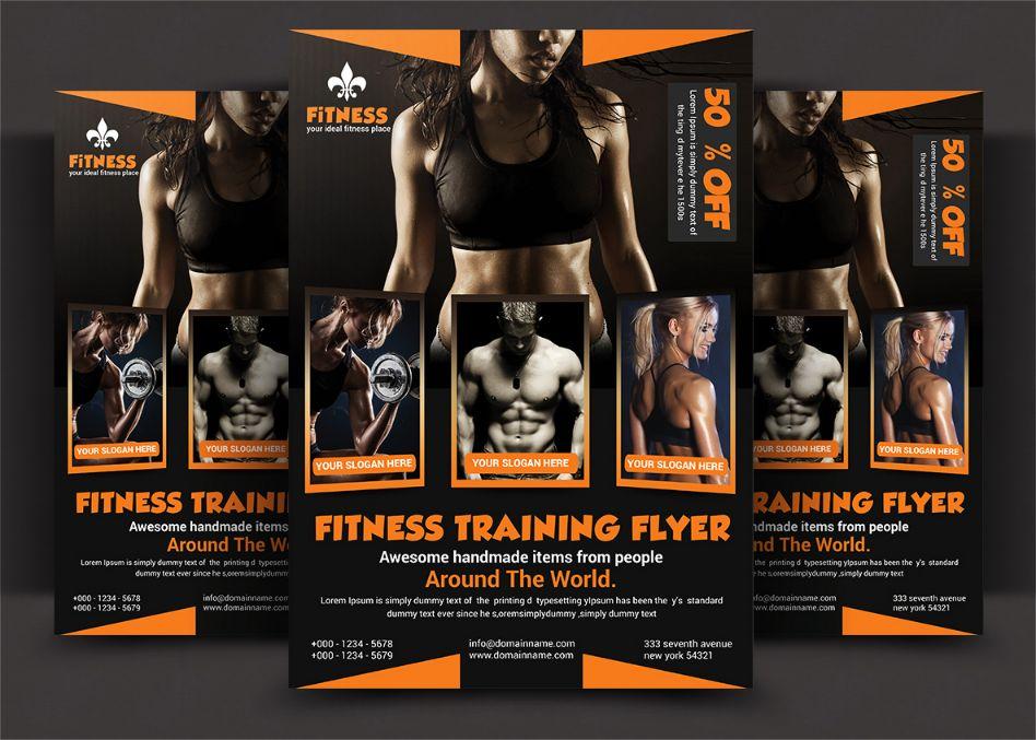 Aerobics FlyerTemplate PSD