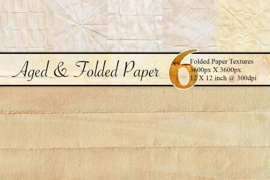 Aged and Folded Paper Texture