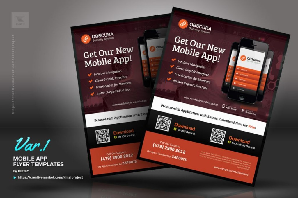 App Advertisement Flyer Template PSD