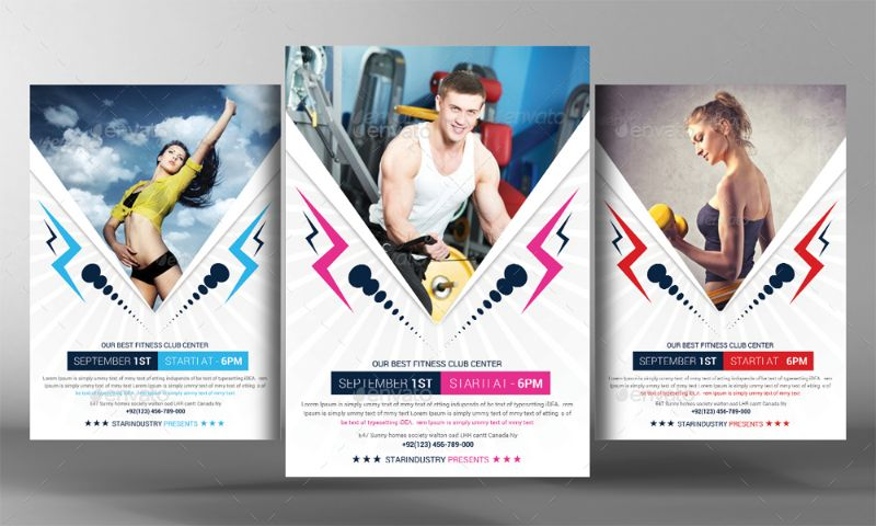 Athletic Fitness Flyer template