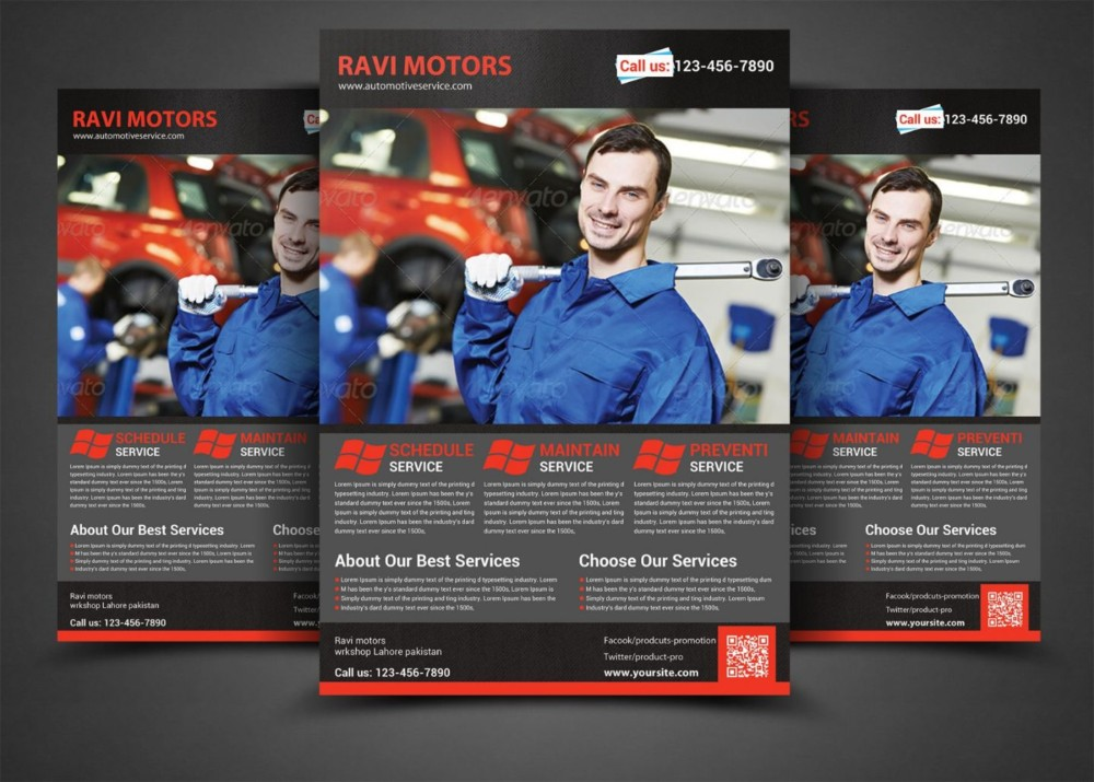 Auto Repair Advertisement Flyer Template
