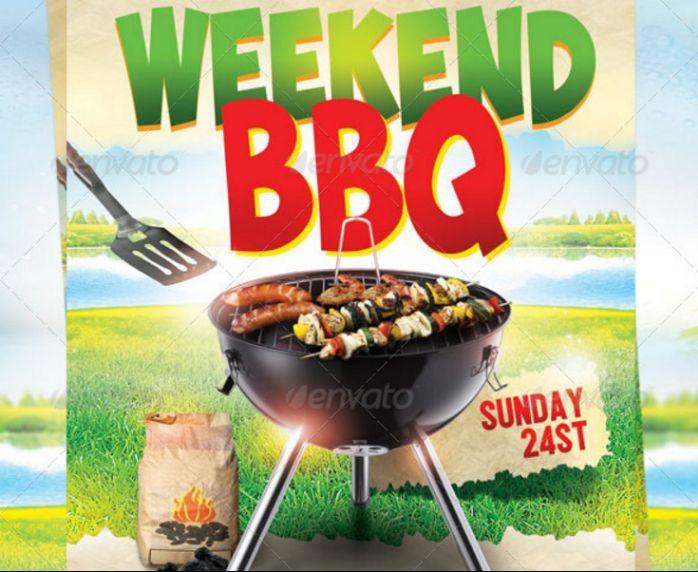 BBQ Advertisement Flyer Template
