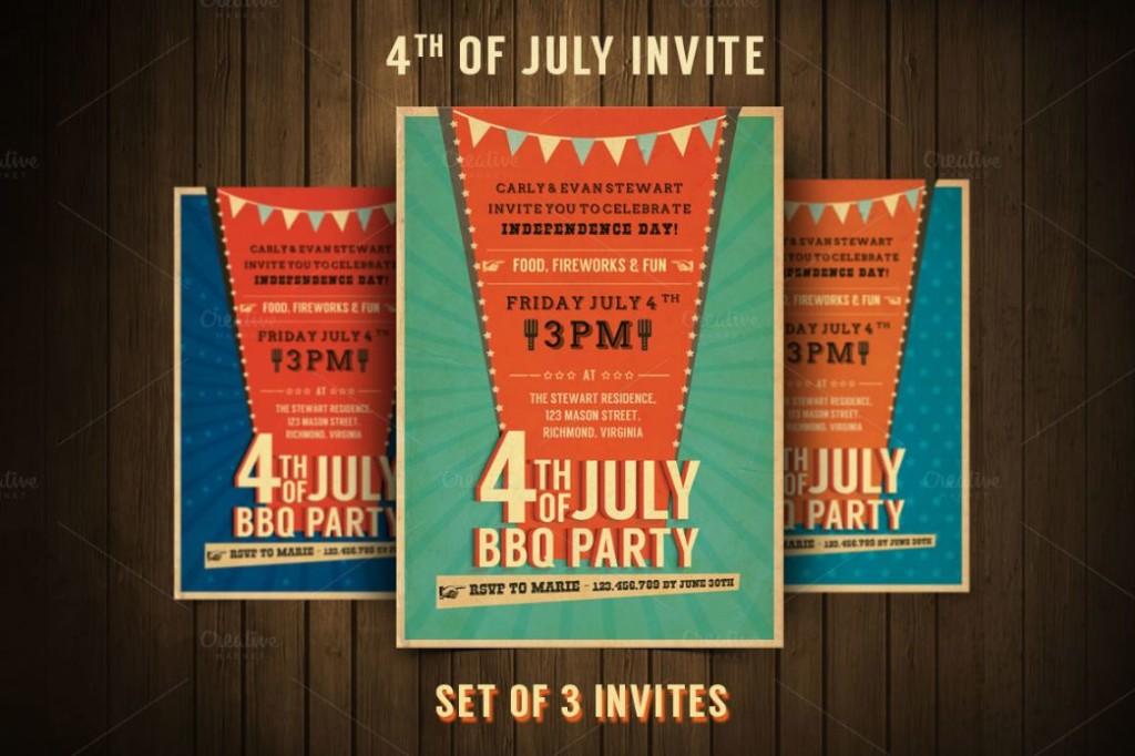 BBQ Flyer Invitation Template PSD