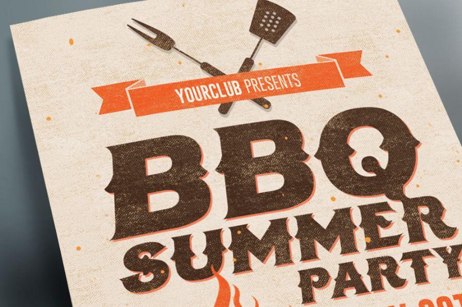 BBQ Invitation Flyer Template