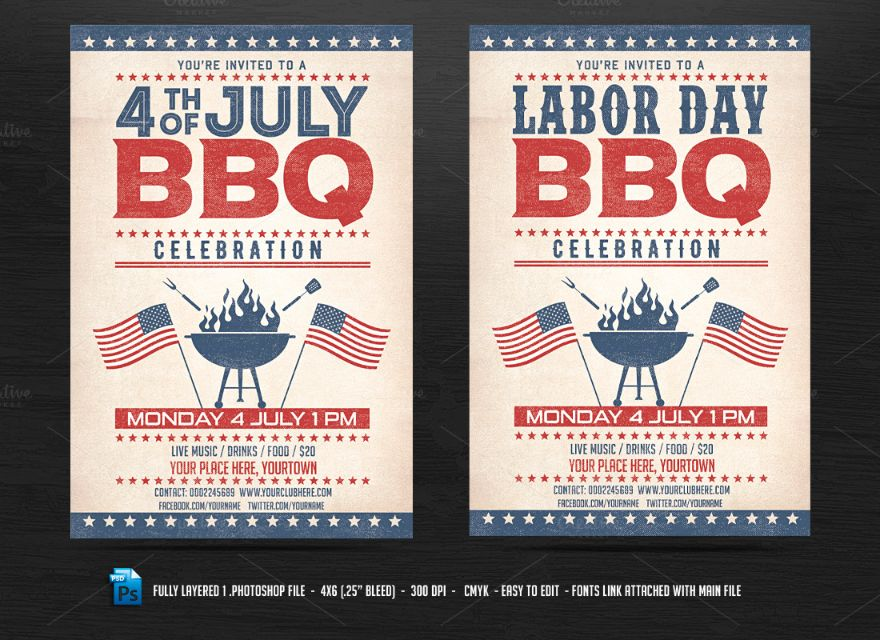BBQ Occasion Flyer Template