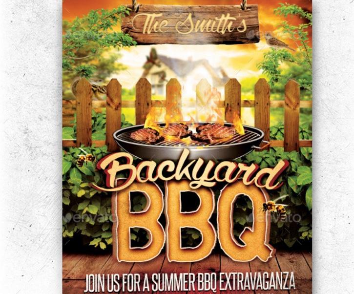 Backyard BBQ Flyer Template PSD