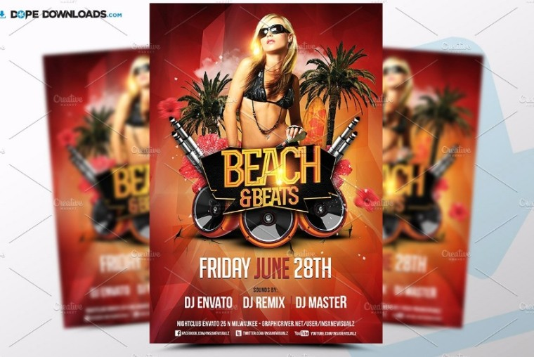 Beach Beads Flyer Template