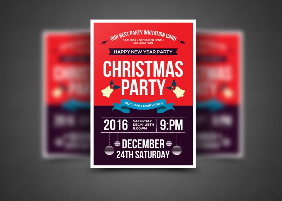 best-christmas-invitation-flyer-template