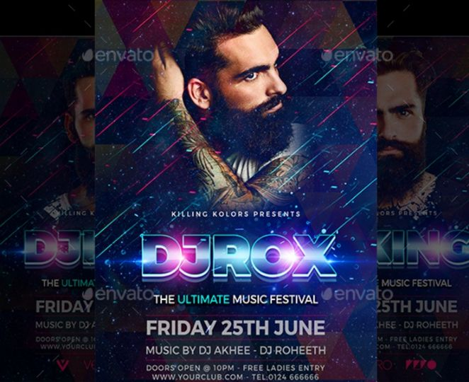 Best DJ Night Flyer Template