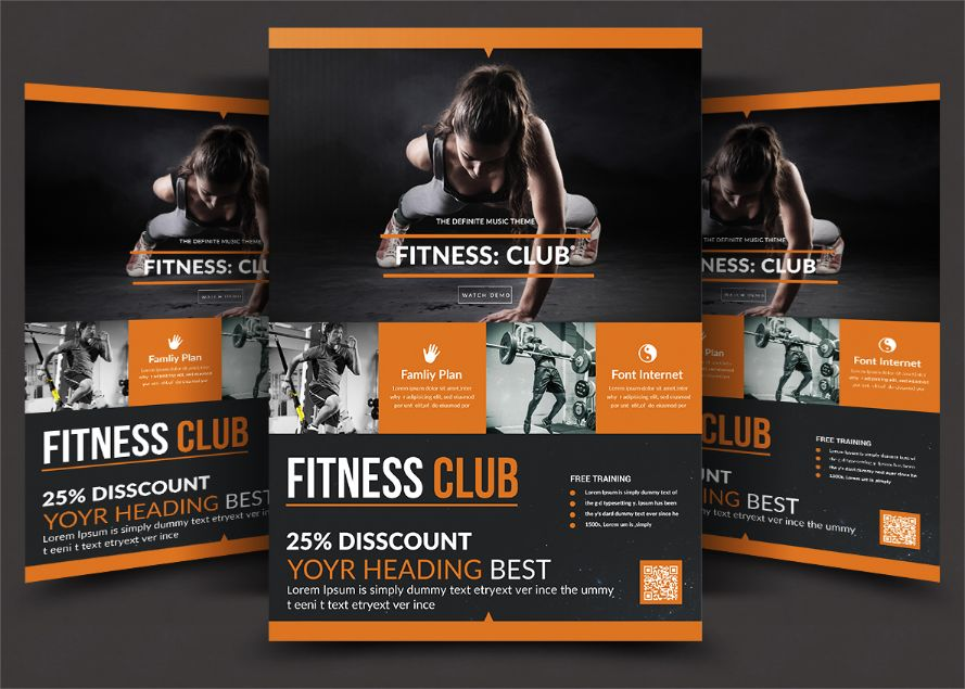 Best Fitness Club Flyer Template