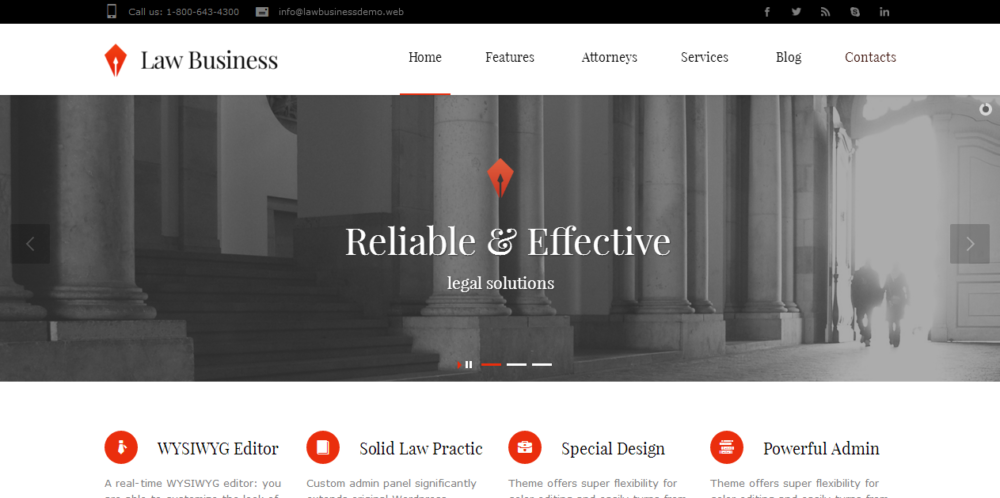 best-selling-law-business-wordpress-theme