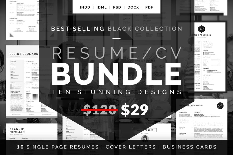 best-selling-resume-template-bundle