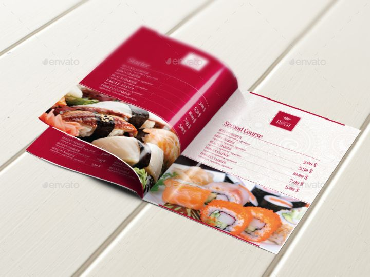 bi-fold-food-brochure-template