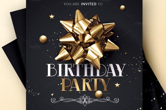 Birthdar Party Invitation Flyer Template