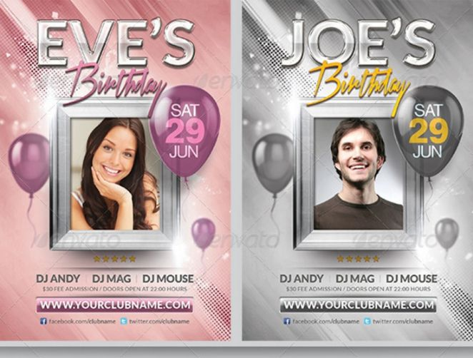 Birthday and Anniversary Flyer Template (1)
