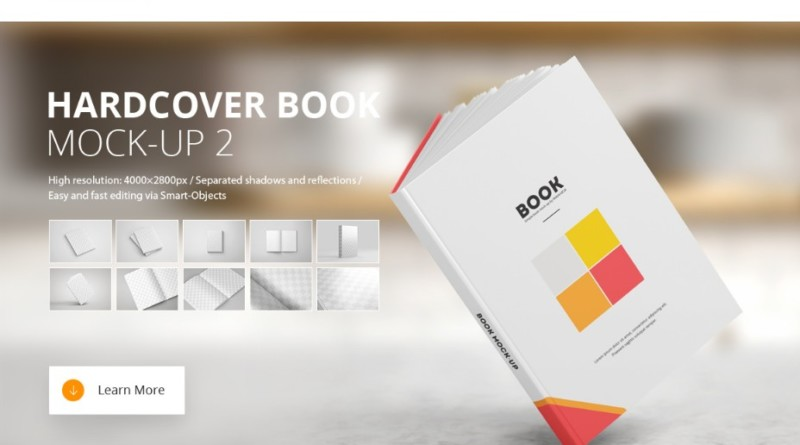 15+ Book Mockup PSD for Presenting You Design in Elegant Way