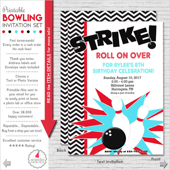 bowling-party-invitation-set