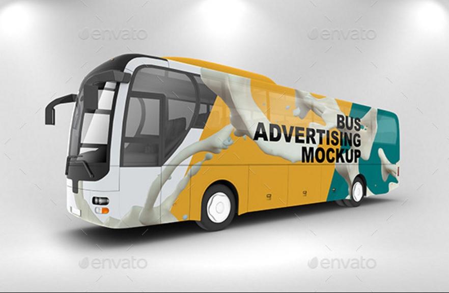 Bus Advertisement Mockup PSD