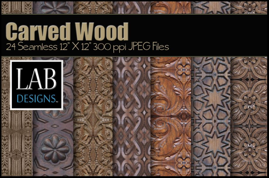 Carved Seamless Wood Texture