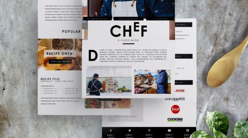 chef-resume-media-kit-template
